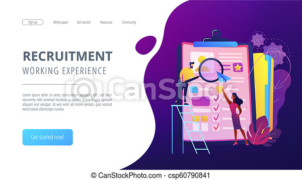 Job Interview Concept Vector Illustration Hr Managers Looking At