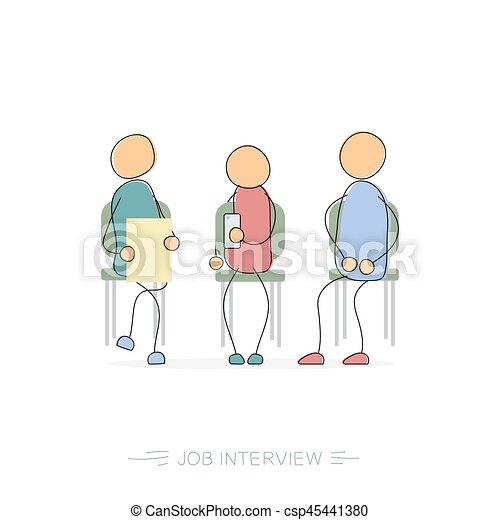 Job interview - drawing man - csp45441380