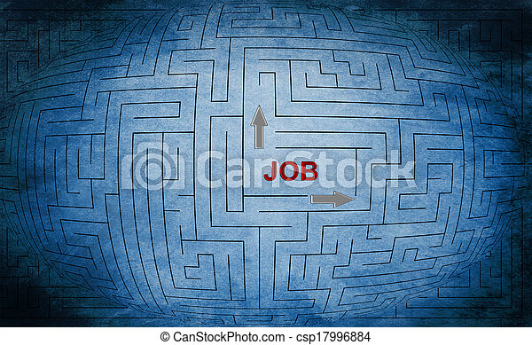 Job maze concept - csp17996884