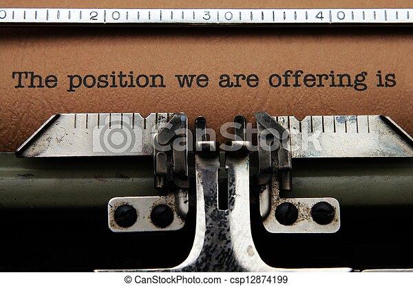 Job offer letter - csp12874199