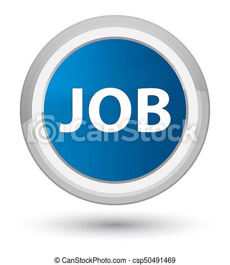 Job prime blue round button - csp50491469