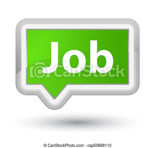Job prime soft green banner button - csp50668110