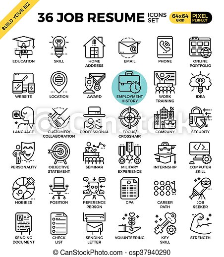 job resume icons csp37940290 - Icons For Resume