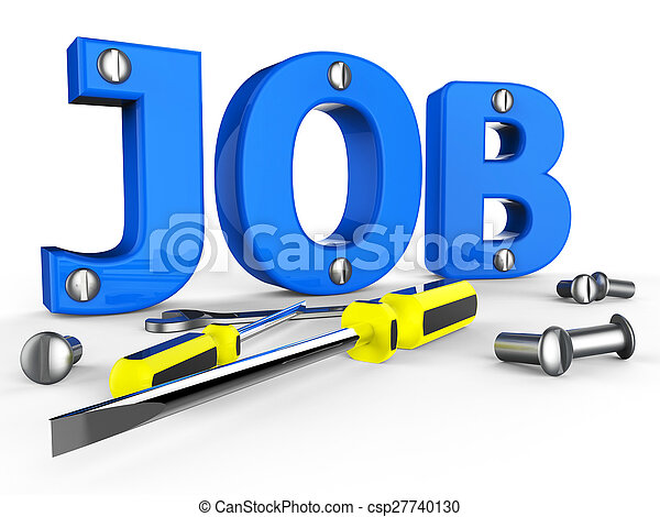 Job Word Means Hire Me And Career - csp27740130