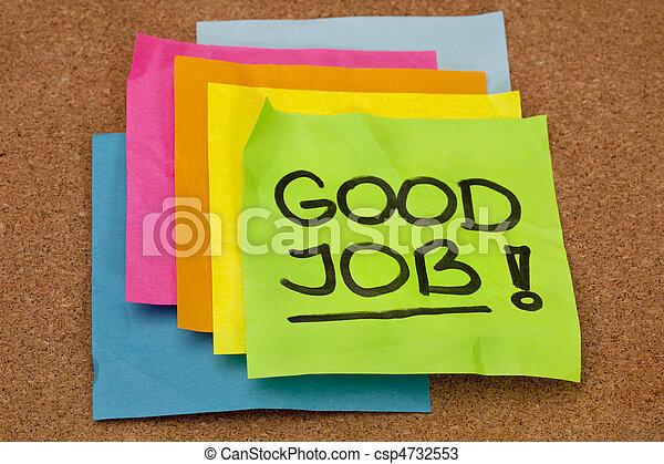 jobb, bra, -, komplimang - csp4732553