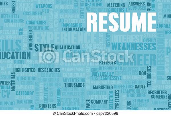 Jobb, resume. Begrepp, resume, väl, jobb, skriftligt, cape ...