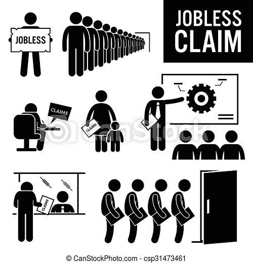 Jobless Claims Unemployment Benefit - csp31473461