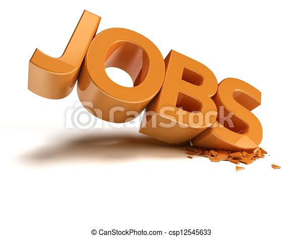 Jobs Crash - csp12545633