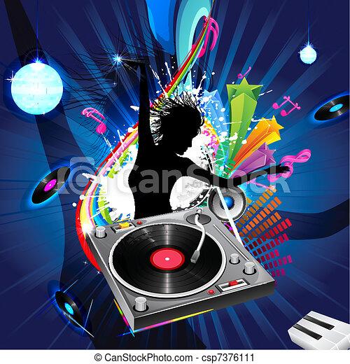 jockey, dame, disco - csp7376111