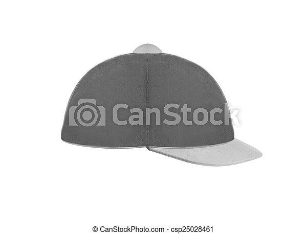 Jockey hat isolated on white - csp25028461