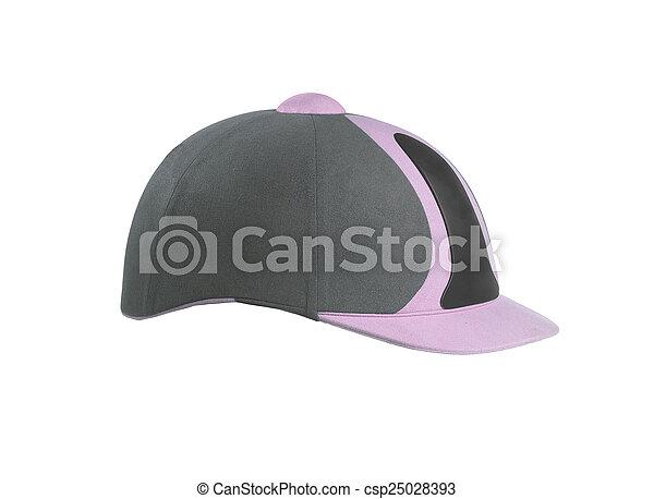 Jockey hat isolated on white - csp25028393
