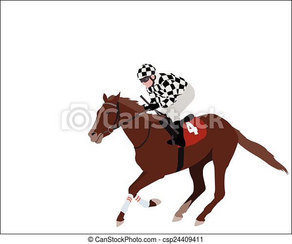 jockey illustration - csp24409411