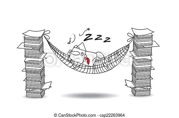 Joe Is Sleeping In A Hammock Vector