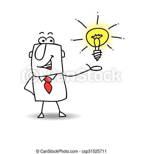 Joe presents an idea - csp31525711