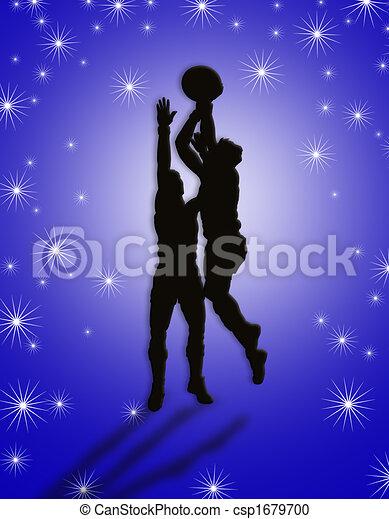 jogadores, basquetebol, ilustração - csp1679700