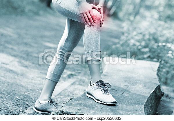 jogger, knie, schaden - csp20520632