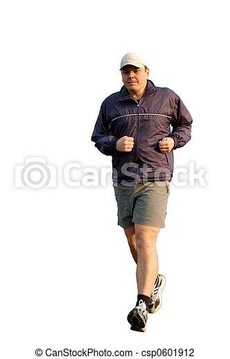 jogging, joven - csp0601912