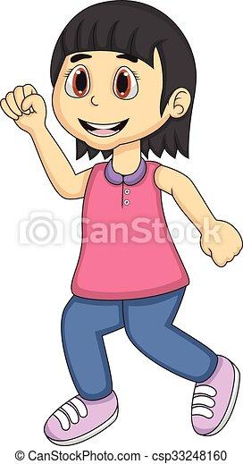 Jogging Petite Fille Dessin Animé