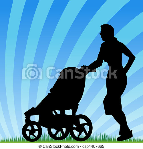 Jogging With Stroller - csp4407665