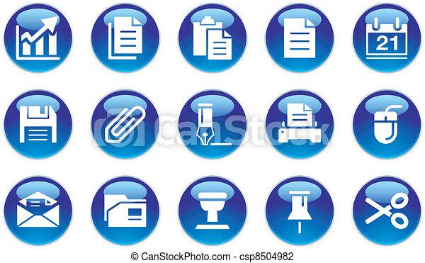 jogo, ícones escritório - csp8504982