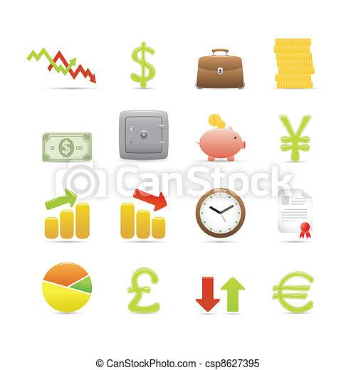 jogo, ícones negócio - csp8627395