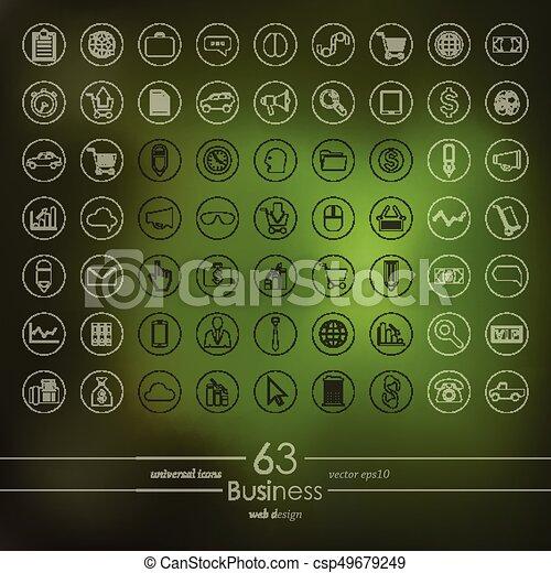 jogo, ícones negócio - csp49679249