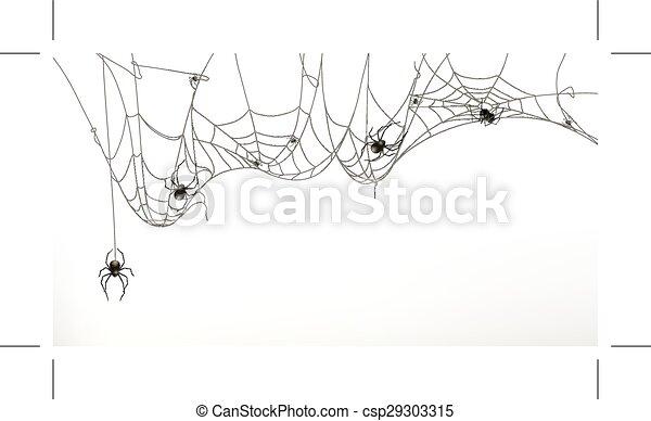 jogo, aranhas, teia, aranha - csp29303315