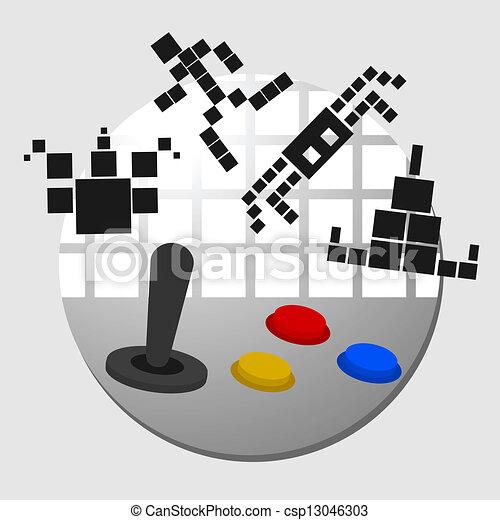 jogo, arcada - csp13046303