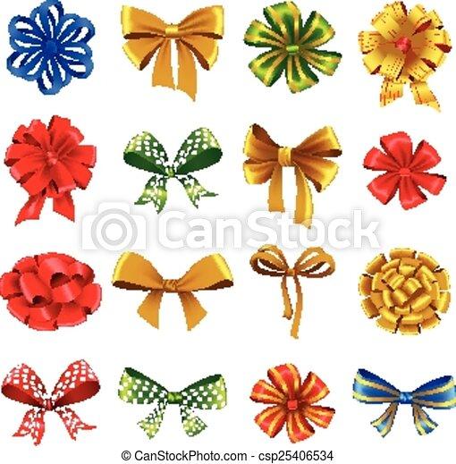 jogo, arcos, presente, ribbons. - csp25406534