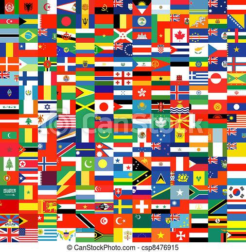 jogo, bandeiras, completo - csp8476915