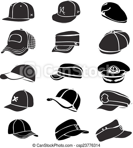 jogo, boné, isolado, vetorial, basebol, batida, chapéu branco, ícone - csp23776314