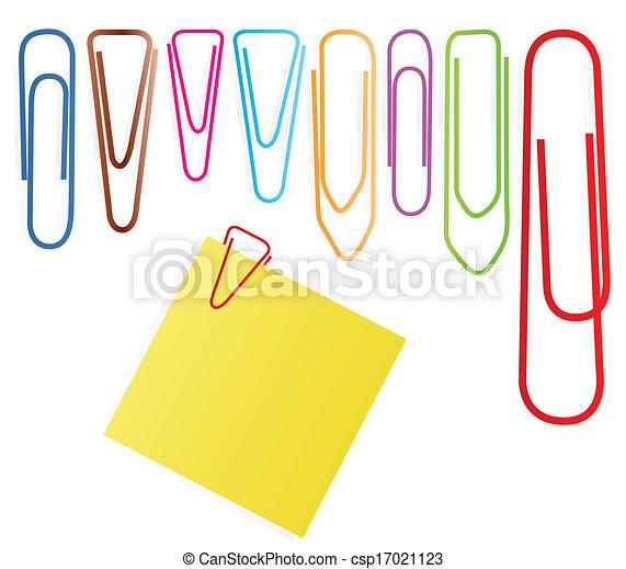 jogo, clip, nota, vetorial, papel, fundo - csp17021123