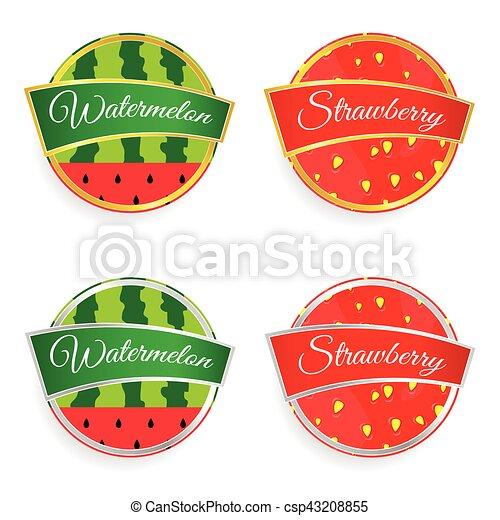 Jogo Coloridos Ilustracao Etiqueta Moranguinho Fruta