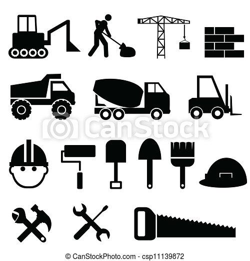 jogo construção, ícone - csp11139872