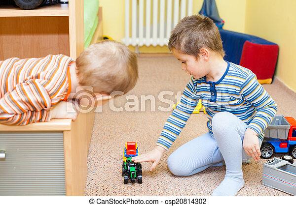 jogo, crianças, brinquedos - csp20814302