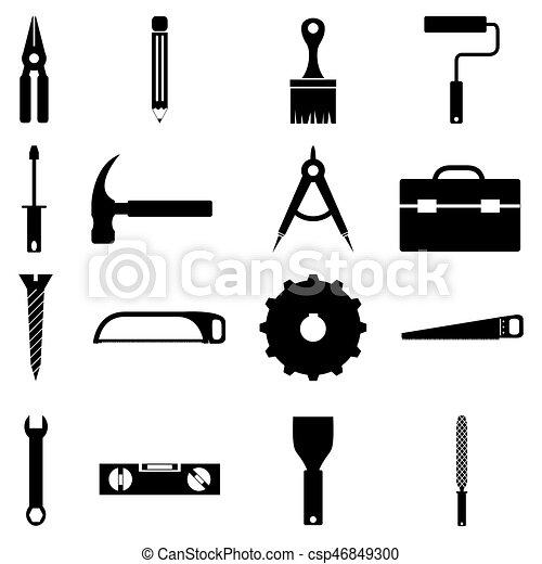 jogo, ferramentas, ícone - csp46849300