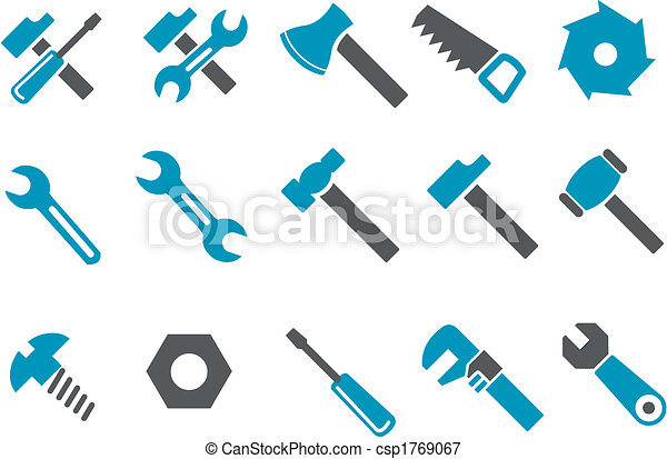 jogo, ferramentas, ícone - csp1769067