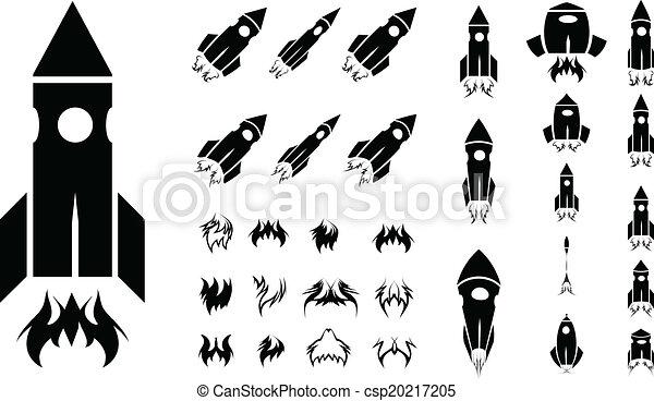 jogo, foguete, ícone - csp20217205