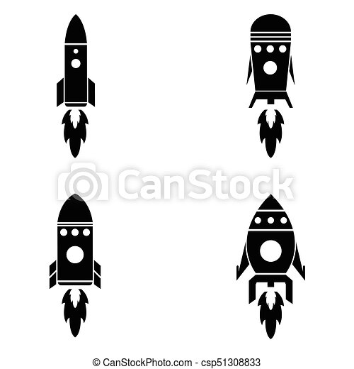 jogo, foguete, ícone - csp51308833