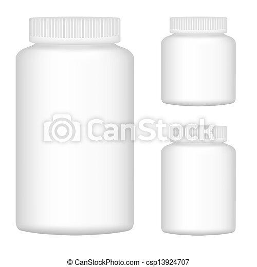 jogo, ilustração, plástico, embalagem, vetorial, garrafa, em branco, branca, 2., design. - csp13924707