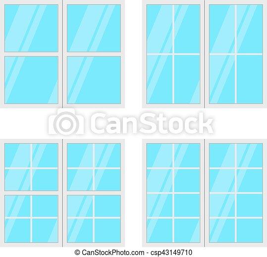 jogo, janelas, isolado, experiência., vetorial, branca - csp43149710