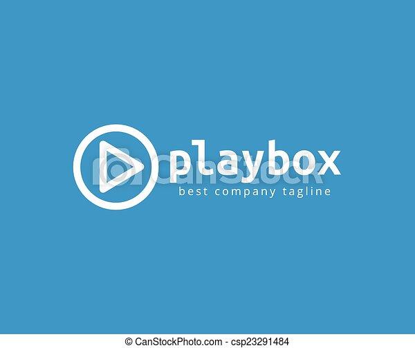 jogo, marcar, botão, logotype, abstratos, vetorial, modelo, logotipo, concept., ícone - csp23291484