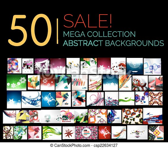 jogo, mega, abstratos, venda, grande, fundos - csp22634127