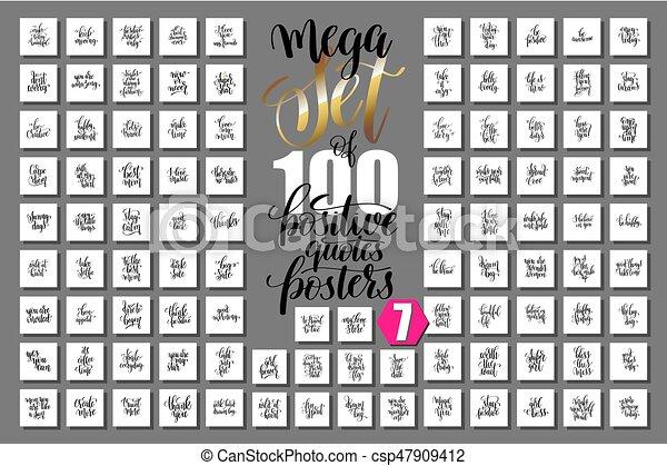 jogo, mega, positivo, citação, cartazes, 100 - csp47909412
