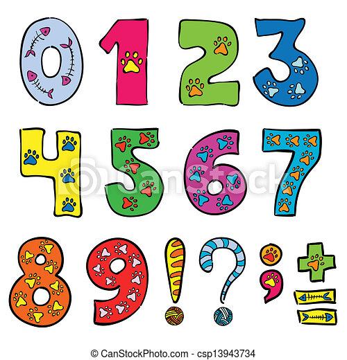 jogo, números, engraçado, sinais - csp13943734
