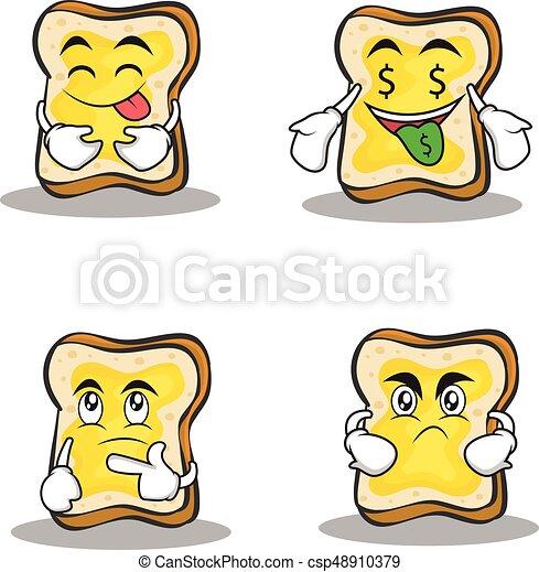jogo, personagem, cobrança, desenho, caricatura, pão - csp48910379