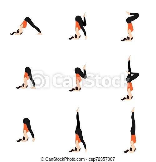 jogo poses ioga preparação headstand shirshasana