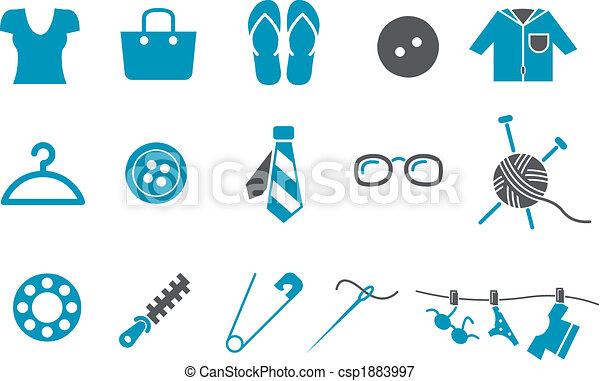 jogo, roupa, ícone - csp1883997