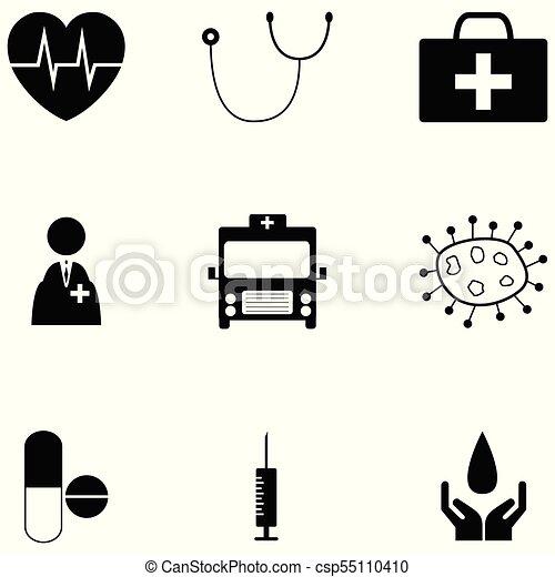 jogo, saúde, ícone - csp55110410