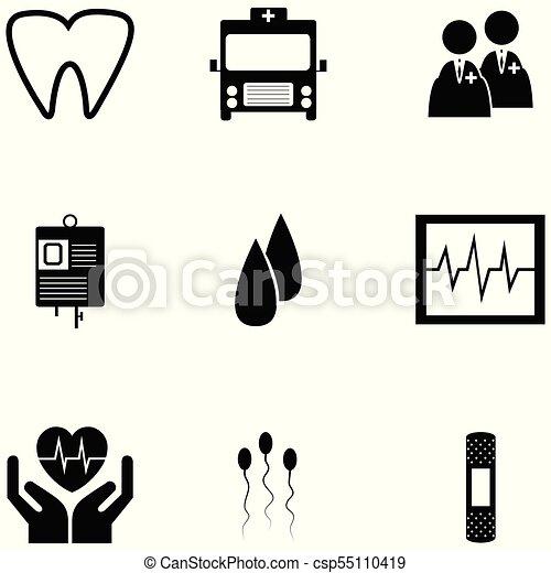 jogo, saúde, ícone - csp55110419
